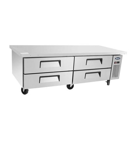 Atosa Low Base Chef's Table 4 Drawer Refrigerator 420L - MGF8453