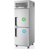 Image of SKIPIO 2 Solid Door Upright Fridge & Freezer -  SRFT25-2