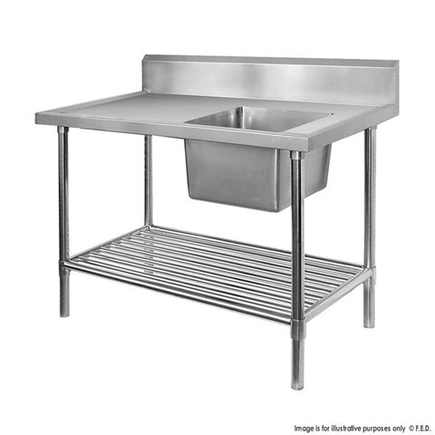 FED Single Right Sink Bench with Pot Undershelf - SSB7-1200R/A