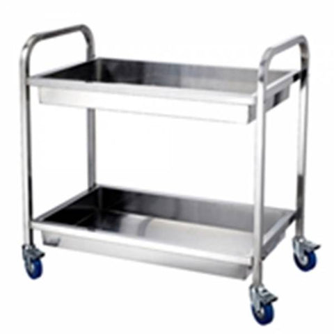 FED Stainless Steel Two Tier Deep Shelf Trolley - YC-102D