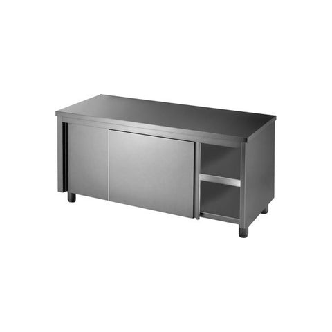 Stainless Steel Workbench Cabinet with Sliding Doors on Both Sides - STHT-1500-H