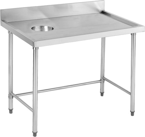 FED High Quality Stainless Stell Bench with Splashback - SWCB-7-1200R