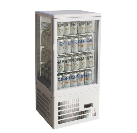 FED Countertop Display Fridge White Four-Sided - TCBD78W - OzCoolers