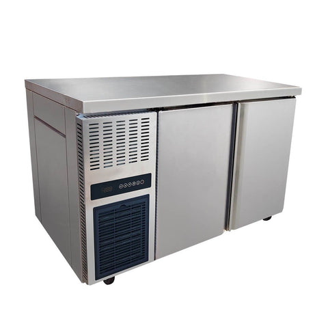 FED Stainless Steel Double Door Workbench Fridge - TL1200TN