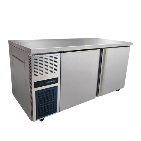 FED Stainless Steel Double Door Workbench Fridge - TL1500TN