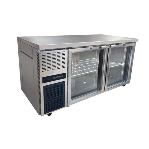 FED Glass Door Workbench Fridge - TL1500TNG