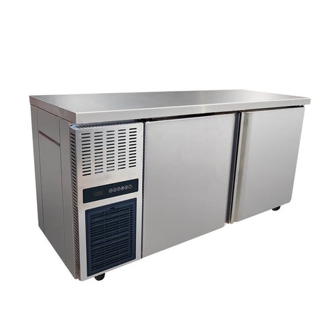 FED Stainless Steel Double Door Workbench Freezer - TS1500BT