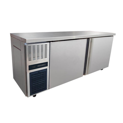 FED Stainless Steel Double Door Workbench Freezer - TS1800BT