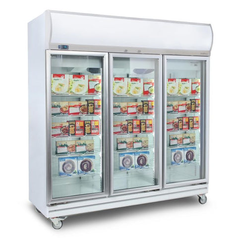 Bromic Flat Glass Door 1507L LED Upright Display Freezer - UF1500LF - OzCoolers
