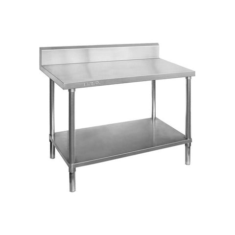 FED Full 304 Grade Stainless Steel Bench with Splashback - WBB6-0900/A