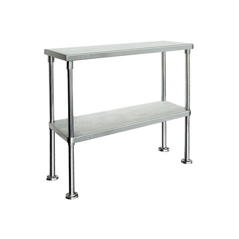 FED Stainless Steel Double Tier Workbench Overshelf - WBO2-1500