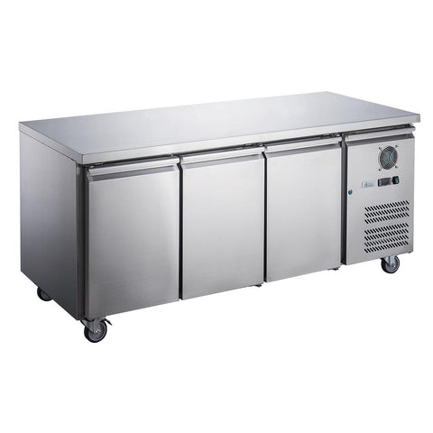 FED-X S/S Three Door Bench Fridge - XUB6C18S3V