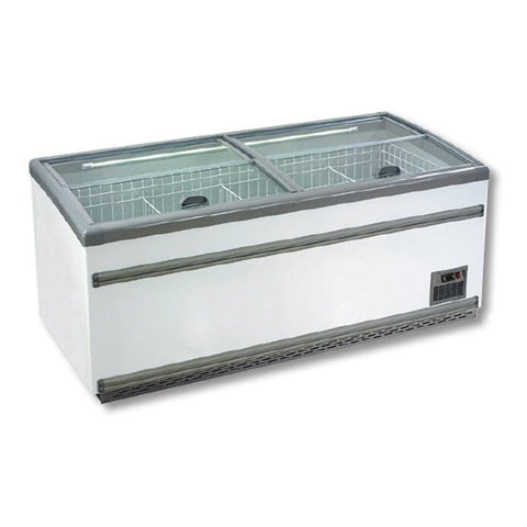FED Dual Temperature Freezer Or Chiller' with Glass Sliding Lids - ZCD-L250S
