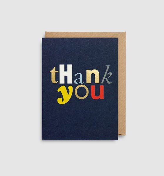 Greetings Card Thank You Font