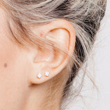 Allied Square Stud Earrings Silver
