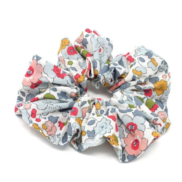 Liberty print cotton hair scrunchie.