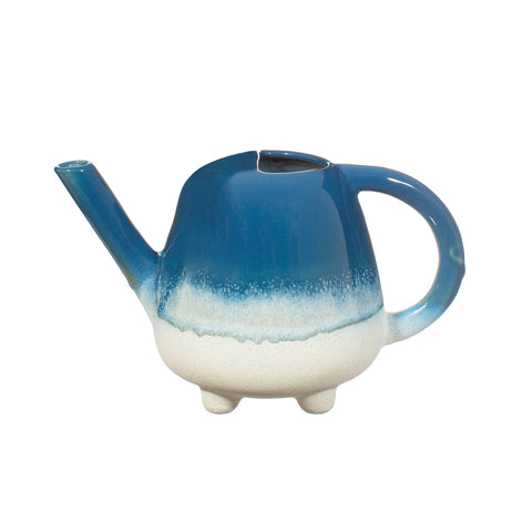 Watering Can Blue Ceramic Ombre Glaze