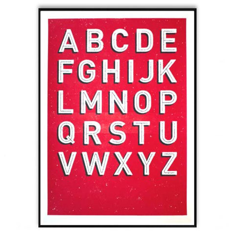 ABC Red Screen Print A2