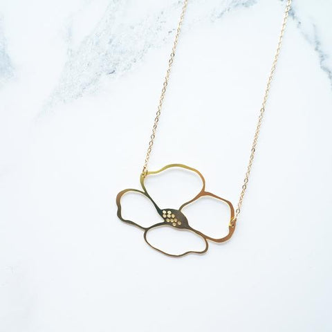 Necklace Brass Anemone