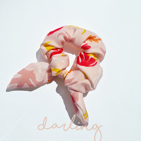 Scrunchie With Bow Darling