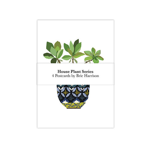 Postcard Set Of 4 House Plant Series