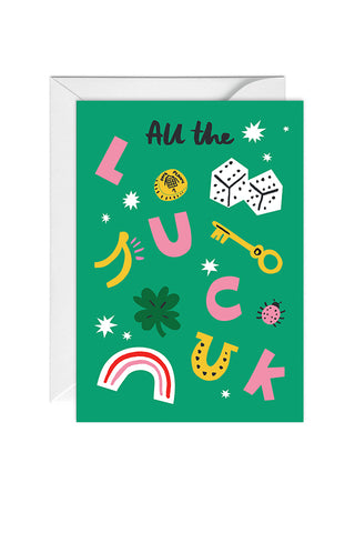 Greetings Card All The Luck