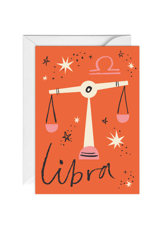 Greetings Card Zodiac Sign Libra