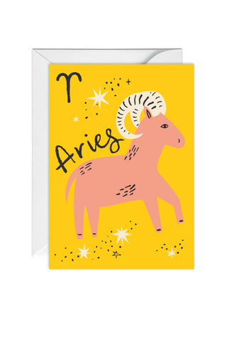 Greetings Card Zodiac Sign Aries