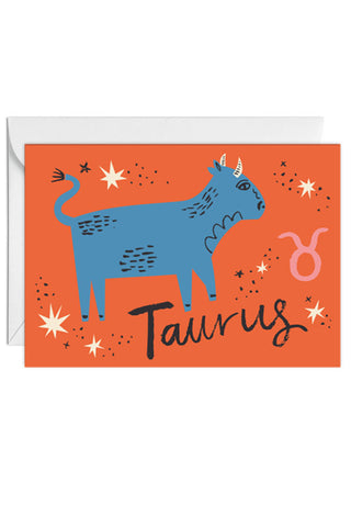 Greetings Card Zodiac Sign Taurus