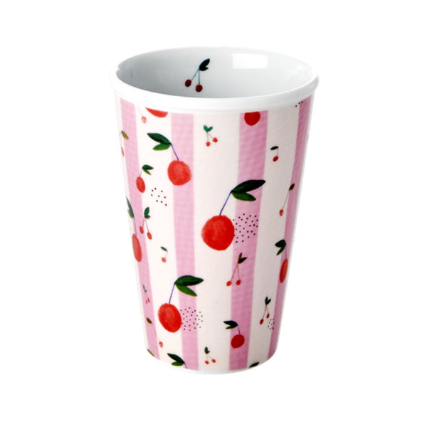 Porcelain cherry patterned cup.