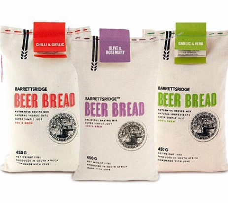 Three bags of beer bread mix