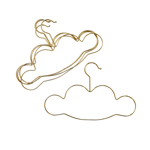 Metal golden coloured cloud shape clothes hangers.