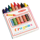 Set of eight large colourful crayons