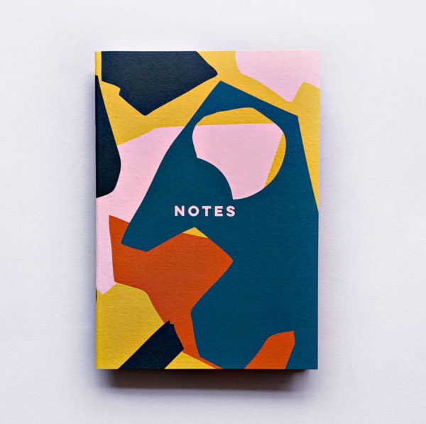 Notebook Pink Cut Out Shapes