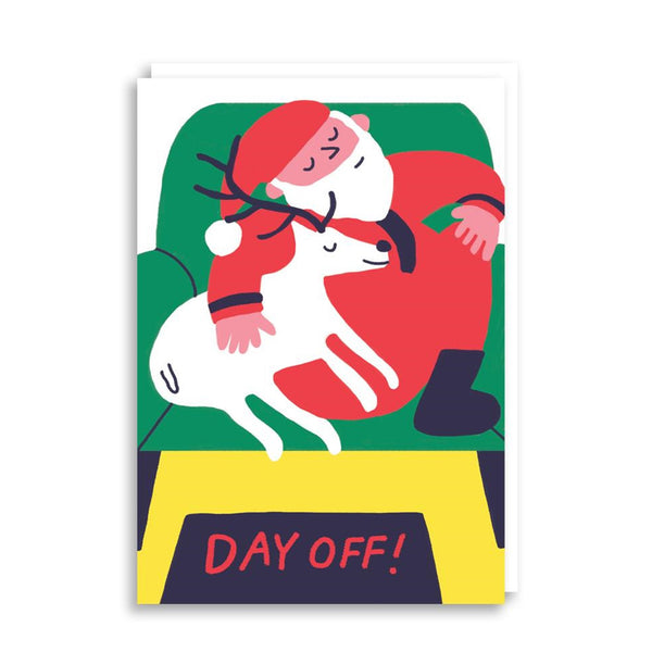 Day Off Christmas Greetings Card