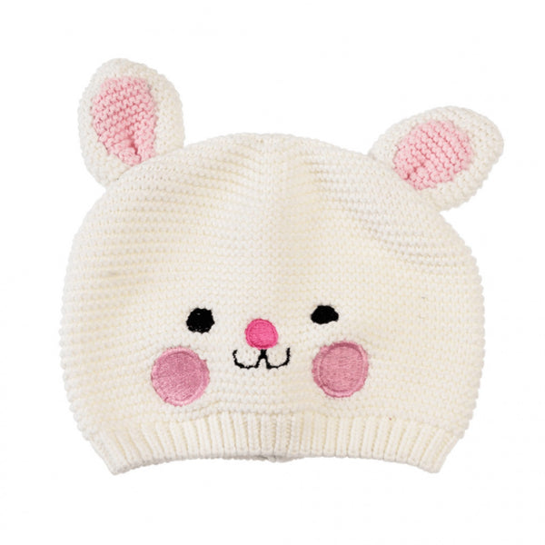 Knitted cotton bunny rabbit hat