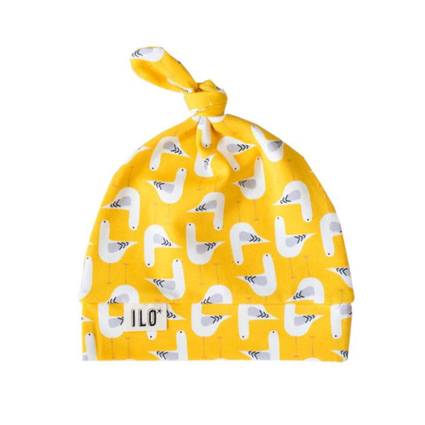 Baby Hat Knot Seagull Yellow
