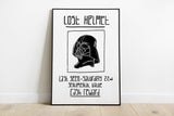 Darth Vader Star Wars Lost Helmet Print