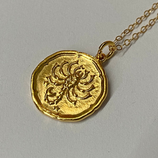 Necklace Star Sign Scorpio Gold