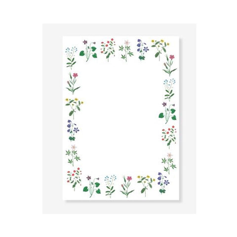 Wildflower Boarder Notepad