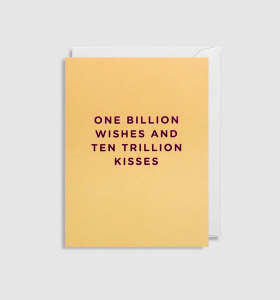 Greetings Card One Billion Wishes