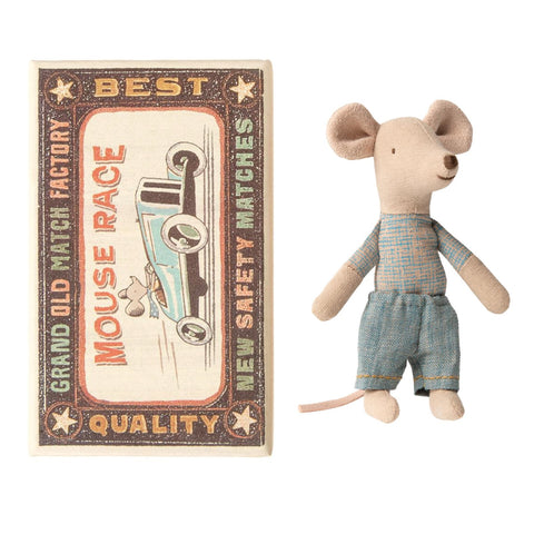 Little Brother Mouse In Matchbox Blue Trousers
