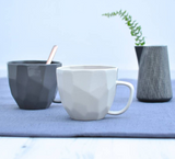 White Ceramic Cubic Cup