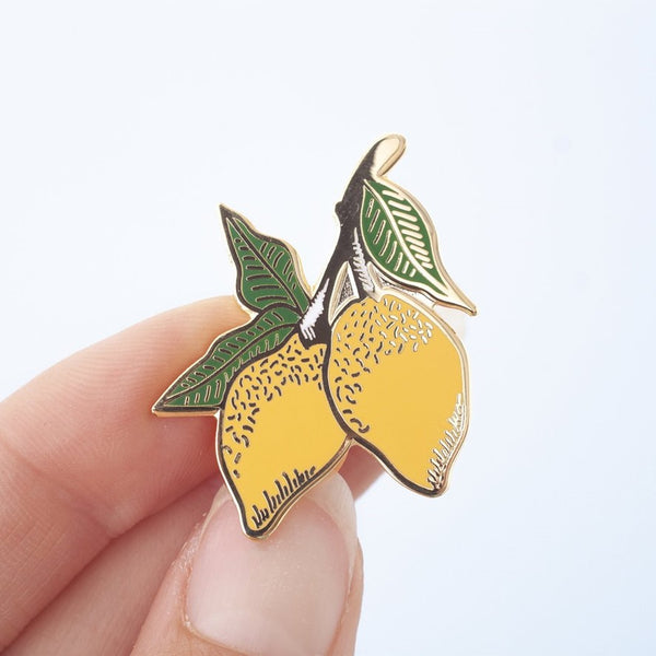 Lemon Enamel Pin Badge