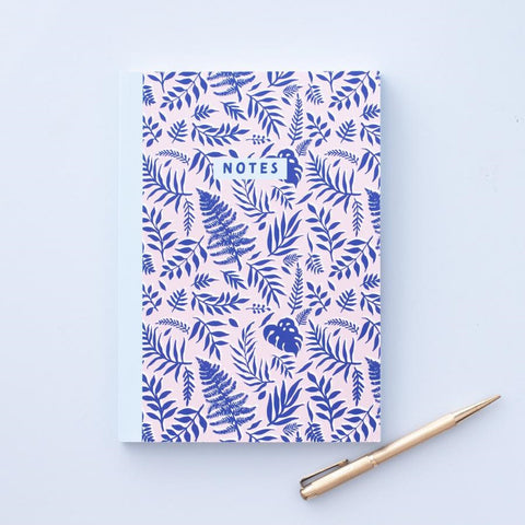 Blue Leafy Journal Notebook