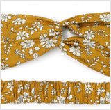 Mustard Liberty Print Twist Headband