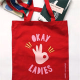 Okay Ladies Cotton Tote Bag
