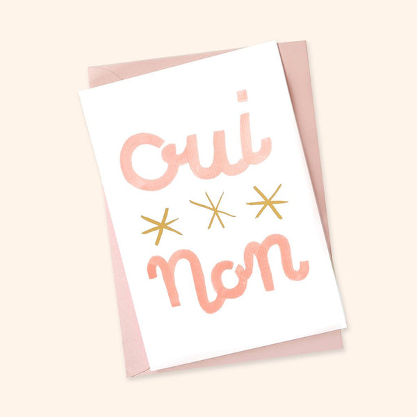 Oui Non Greetings Card
