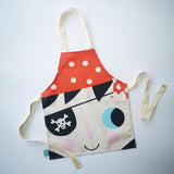 Children's cotton apron with pirate design.