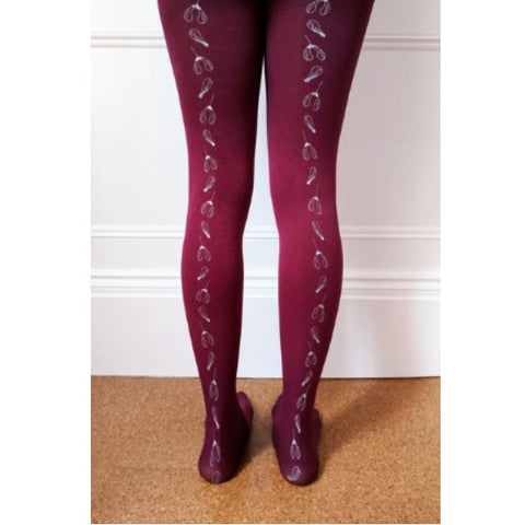 Hand screen printed tights